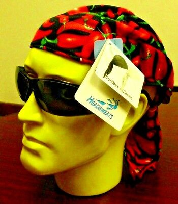 3 Day Special CHILI PEPPERS HEADSWEATS COOLMAX BICYCLE CYCLING CAP HAT BANDANA