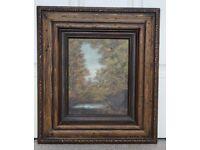 Forest landscape gild framed paint picture