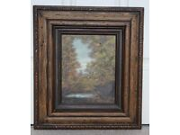 Forest landscape gild framed paint picture. House clearance sale!