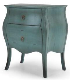 Bourbon Bedside Table, Azure Blue