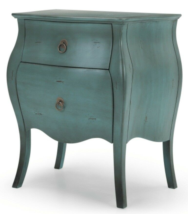 Superbe Bourbon Bedside Table, Azure Blue
