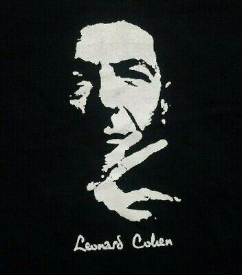 Leonard Cohen ***XL*** screen printed t-shirt Black retro Classic Screen Print Jersey