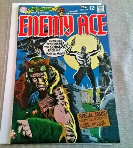 Star Spangled War Stories #144 VF+ Enemy Ace Neal Adams DC 1969 Silver Age