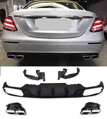 Für Mercedes-Benz E-Klasse W213 E63 AMG Look Heckschürze Stoßstange Diffusor #42