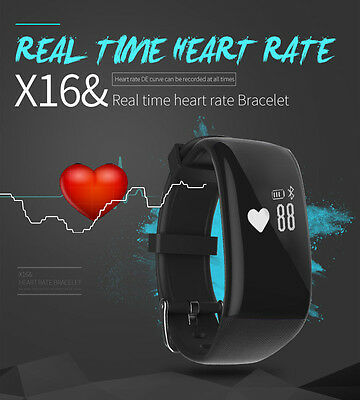 Waterproof Smart Watch Band Heart Rate Monitor Pedometer Fitness Sports Bracelet