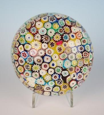 Nice Quality Large Vintage Magnum Closepack Millefiori Paperweight Art Glass