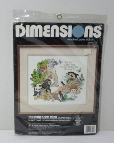 1991 Dimensions Counted Cross Stitch Kit The Earth Is Our Home  3700