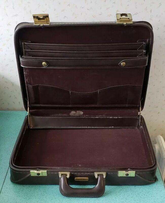 Vintage CN Railroad Briefcase By Stradellina