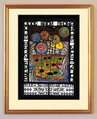 You are a Guest of Nature Behave Gast Friedensreich Hundertwasser gerahmt 04