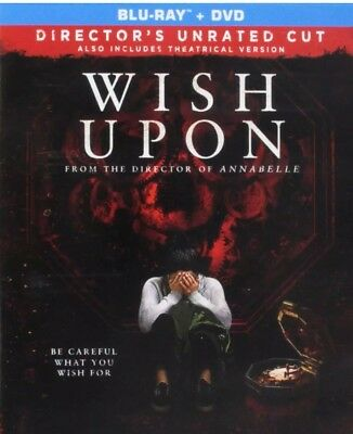 Wish Upon (Blu-ray AND DVD) Directors Unrated Cut - Supernatural Halloween 2017