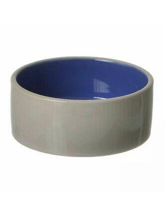 "Spot Ceramic Crock Small Animal Dish 5"" Diameter Dog Cat Water Food Bowl Blue"
