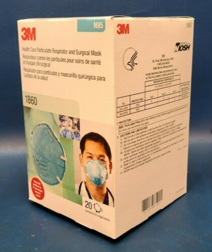 Expired, Brand New, 3m Box Of 20 N95 1860 Facemask Respirator And Surgical Mask.