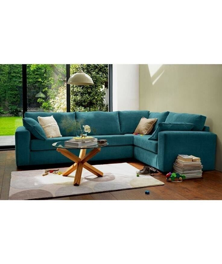 Teal Corner Sofa 4 6 Seater
