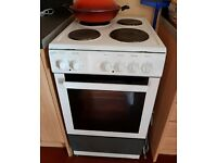 Electric Cooker/Oven (Statesman) White/Rustic Grey