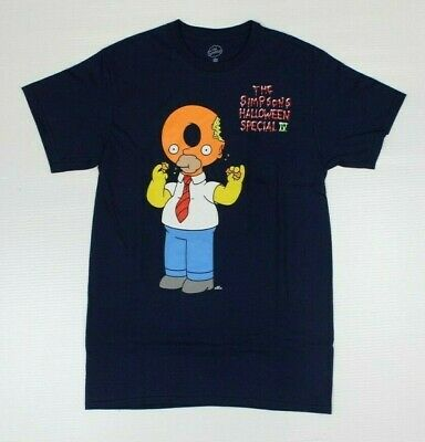 The Simpsons Halloween (The Simpsons Homer Halloween Special Official Navy T-Shirt New!)