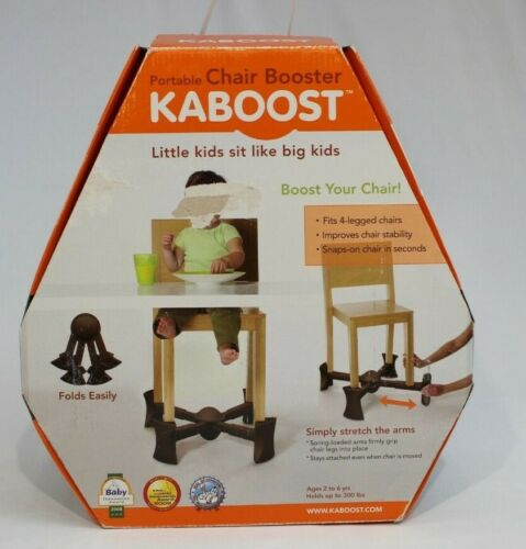 KABOOST Portable Chair Booster For Toddlers Chocolate Brown With Box