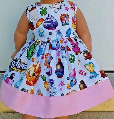 "Doll Clothes-Handmade-American Girl Dolls-Fits18""-Shopkins Dress."