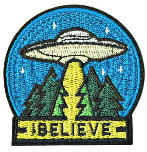 ⫸ I Believe UFO Roswell Area 51 ET Alien Spaceship Abduction Space Patch – New