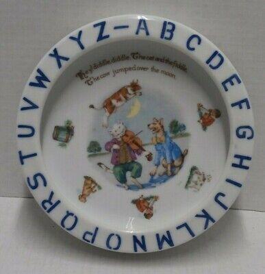 Vintage Childs Bowl Germany ABCs Nursery Rhymes - Porcelain - s3d