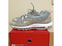 Nike Air Max 98 X Supreme Snakeskin size 9 Brand New With Receipt