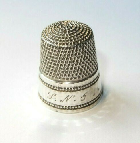 Antique Sterling Silver Thimble by Simons Bros. Circa 1890s  size 9