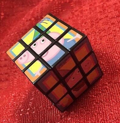 - Peppa Pig Magic Cube Puzzle Twist Game Brain Teaser Rotation - Mini Size