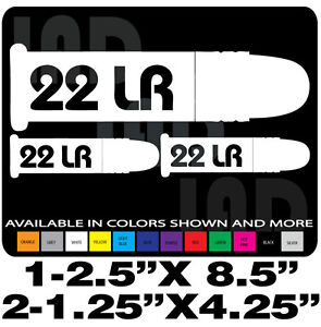 22lr Decals Ammo Can Set Long Rifle Gun Decal Browning