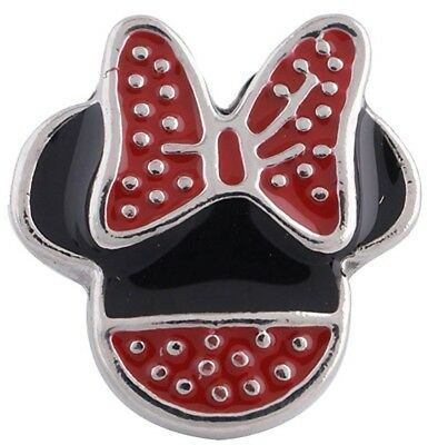 Black Red Bow Minnie Mouse 12mm Mini Petite Charm For Ginger Snaps Magnolia Vine (Mini Mouse Bow)