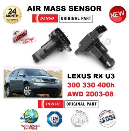 FOR LEXUS RX U3 300 330 400h AWD 2003-ON DENSO AIR MASS SENSOR 5 PIN w/o HOUSING