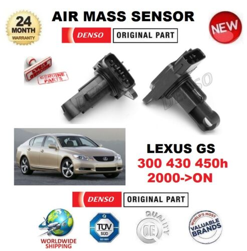 FOR LEXUS GS 300 430 450h 2000-ON DENSO AIR MASS SENSOR 5 PIN without HOUSING