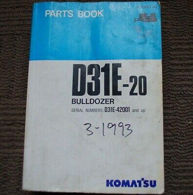 Komatsu Dresser D31e-20 Bulldozer Parts Manual Book Catalog Tractor Crawler 1993
