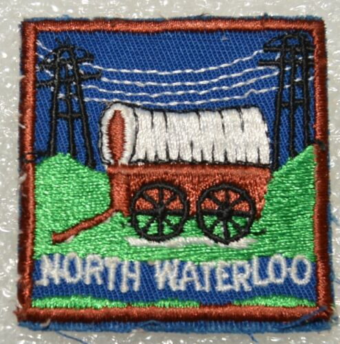 NORTH WATERLOO DISTRICT Hydro Wires Not Crossed Boy Scout Badge Cdn. (ONN3E)