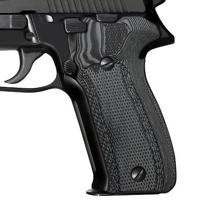 Sig Sauer P226 Grip Cnc Grey Black G10 Anti Slip Checkered Aggressive E 226 Dc 5