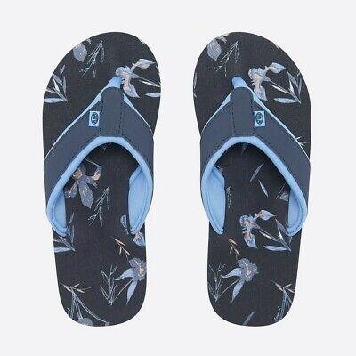 Animal Swish AOP Flip Flops FM9SQ311/X24 India Ink Blue NEW