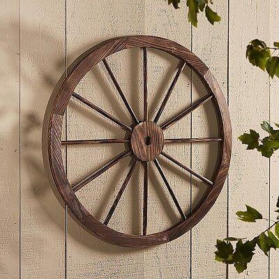 Large Wood Wagon Wheel Outdoor Country Rustic Garden Porch Patio Western Decor