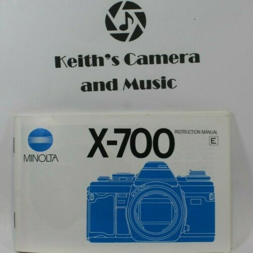 Mint condition! MINOLTA X-700 OWNERS MANUAL GUIDE BOOK BOOKLET fast free ship