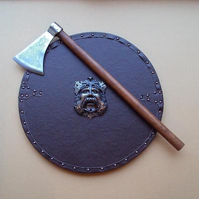 """28"""" Celtic Knot Pattern Dragons Head Axe Perfect For The Re-enactor / Viking"""