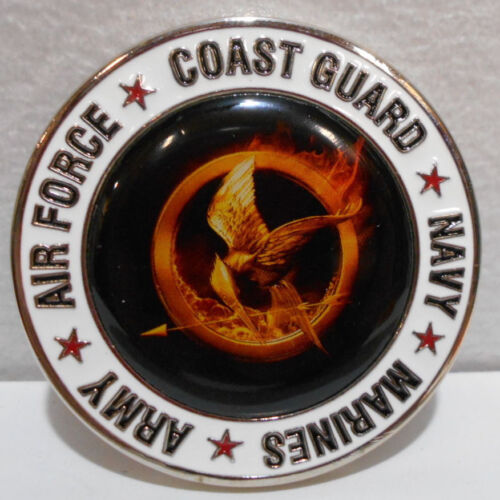 Hunger Games Challenge Coin US Military Army Air Force Navy Marines Coast Guard