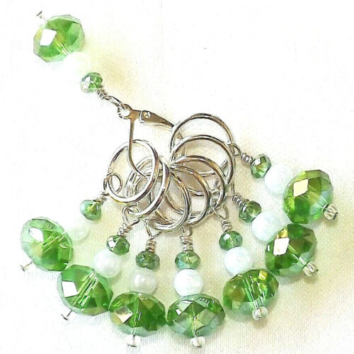 KNITTING ACESSORIES STITCH MARKERS  HANDMADE BEADED  #006