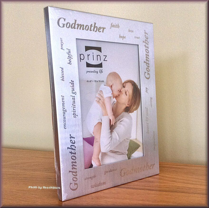 """Godmother Photo Frame by Prinz Holds 6"""" High x 4"""" Wide P"""