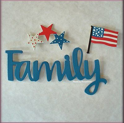 Family Patriotic Word Pack Metal Magnets Set of 3 by Roeda® Free U.S. Shipping