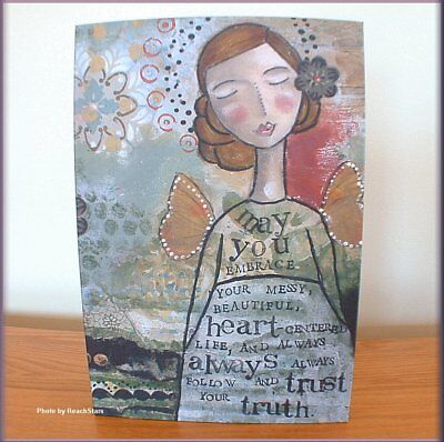 TRUST YOUR TRUTH WALL ART BY KELLY RAE ROBERTS 12 x 8 INCHES FREE U.S. SHIPPING