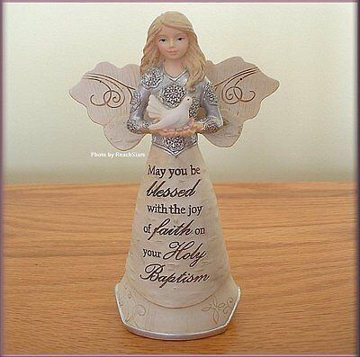 Baptism Angel Figurine - BAPTISM ANGEL FIGURINE SEASHELL & BIRD BY PAVILION ELEMENTS FREE U. S. SHIPPING