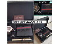 Mens GG gift set watch wallet pen cuflinks brand new unused