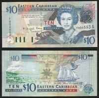East Caribbean States - Antigua - 10 Dollars 2003 Unc Pick 43a -  - ebay.it