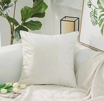 Home Brilliant Velvet Soft Pearl Ivory 26 X 26 Decorative Pillow  Case Cover ()