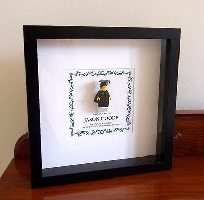 - Unique personalised LEGO male / female Graduation gift frame AFOL