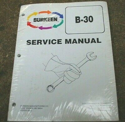 Burkeen B30 Vibratory Plow Trencher Service Manual Repair Shop Maintenance Book