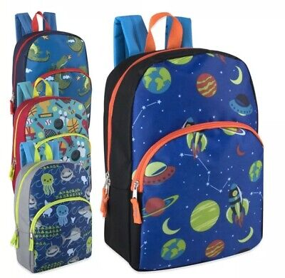 Lot of 24 Wholesale 15 Inch Character Backpacks for Boys in 4 Different - Character Backpacks Wholesale