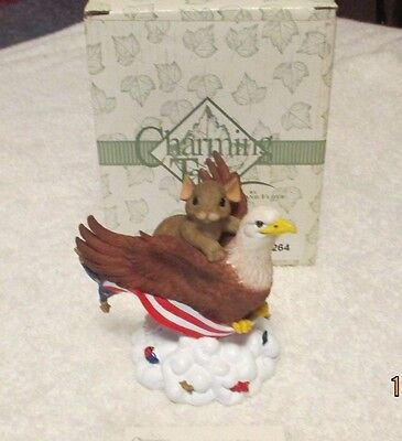 Fitz & Floyd Charming Tails Figurine American Pride Eagle & Mouse